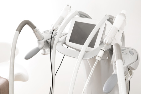 liposuction: Advanced equipment for body shaping and treatments Stock Photo