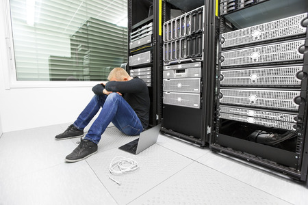 data center data centre: IT consultant with problems in datacenter