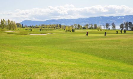 large ball: Large green professional golf course in europe