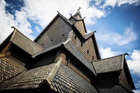 stave: Detailes of the old Eidsborg stave church in Telemark, Norway