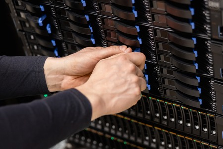 IT Professional Installing Server Drive In San