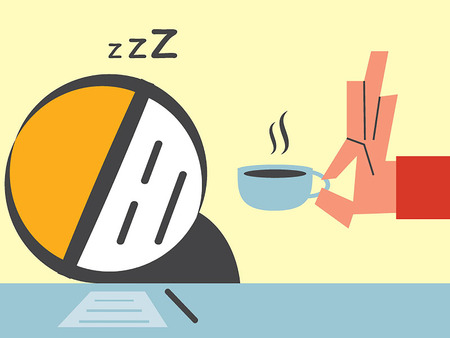 sleepy man: Business man sleepy Illustration