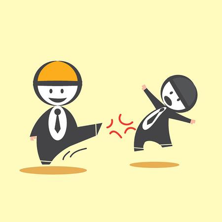 overthrow: Kick Business Man