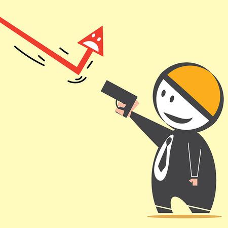 intimidate: Shooting Arrow Illustration