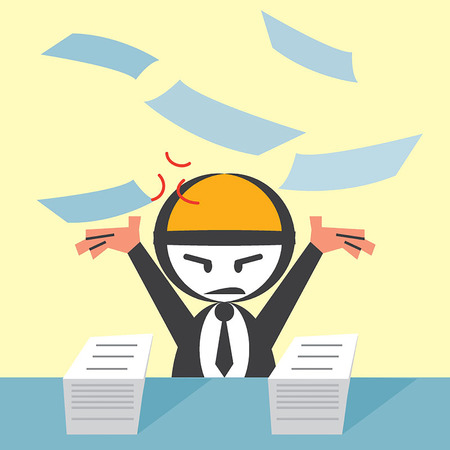 Businessman throwing paper Vector