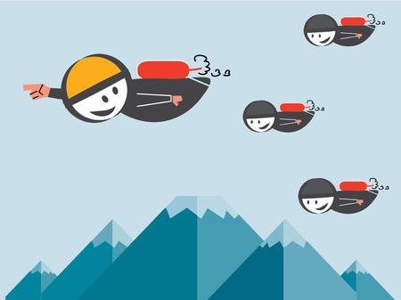 leiderschap: Leiderschap Stock Illustratie