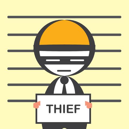 the corruption: corruption business Illustration