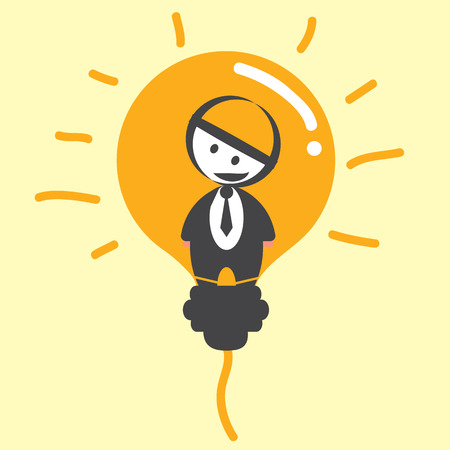 Businessman light bulb Stock Vector - 29304961