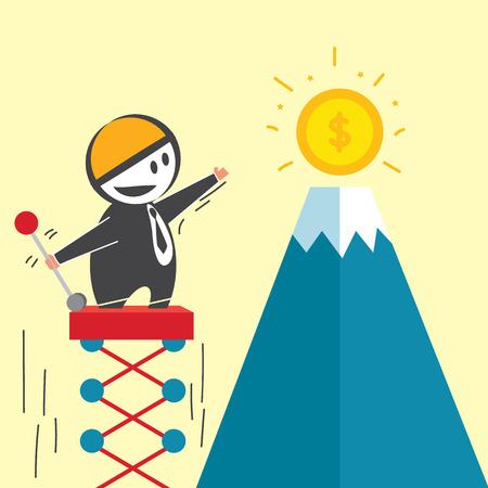shrewd: Intelligent Businessman Illustration
