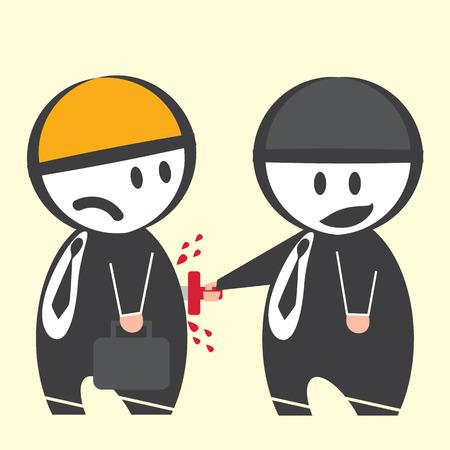 betrayal: Man Stab back other man