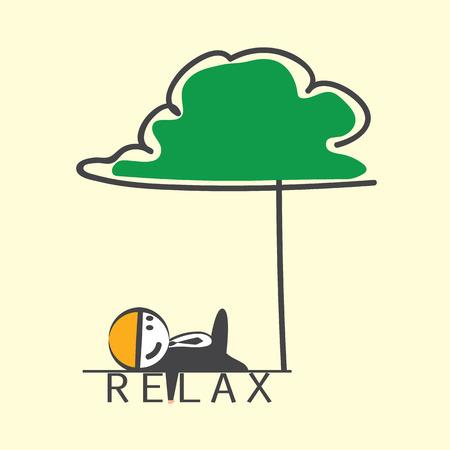 relent: L'uomo rilassato sotto l'albero