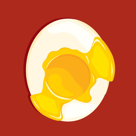 boiled: Boiled Egg VECTOR ILLUSTRATION