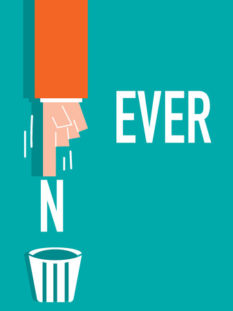 never: NEVER word VECTOR ILLUSTRATION