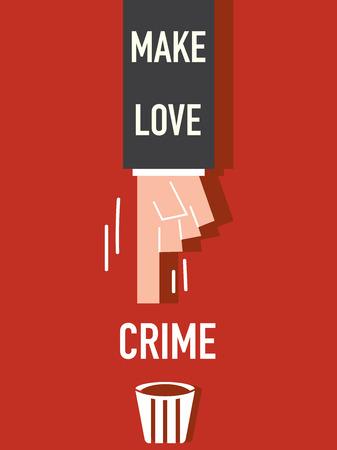 hacer el amor: Make Love P�ster VECTOR Vectores