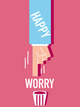 Word Happy VECTOR ILLUSTRATION