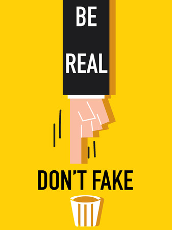 Word Be real Illustration