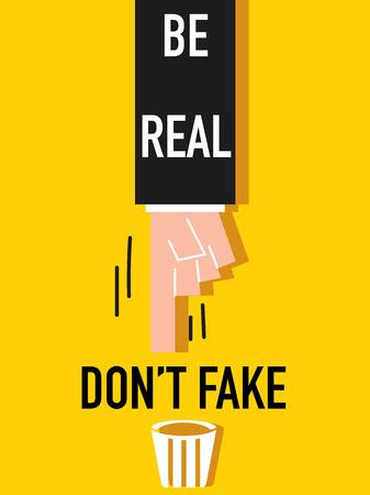 Word Be real Illusztráció