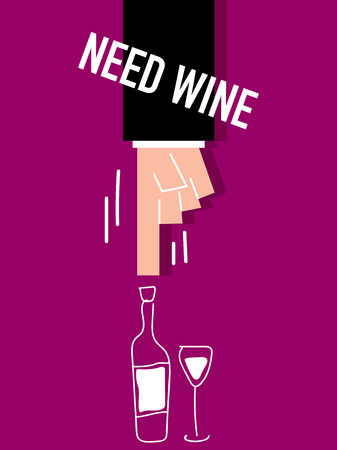 Word Need Wine Vector