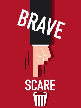 unafraid: Word BRAVE Illustration