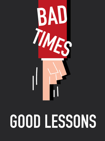 learned: Word BAD TIME vector illustration
