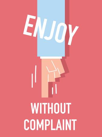 agreeable: Word ENJOY vector illustration Illustration
