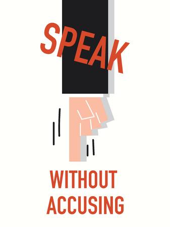 accuse: Word SPEAK vector illustration Illustration