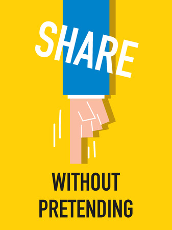 falsely: Word SHARE vector illustration