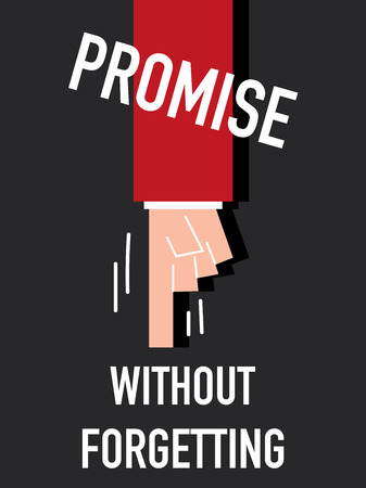 plight: Word PROMISE vector illustration