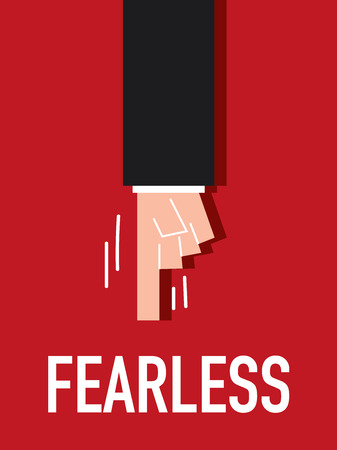 Word FEARLESS vector illustration Vector