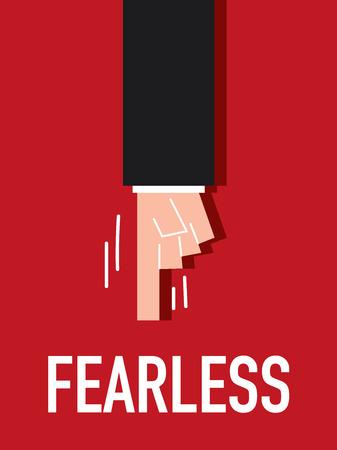 fearless: Word FEARLESS vector illustration Illustration