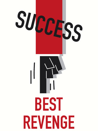 revenge: Word SUCCESS vector illustration