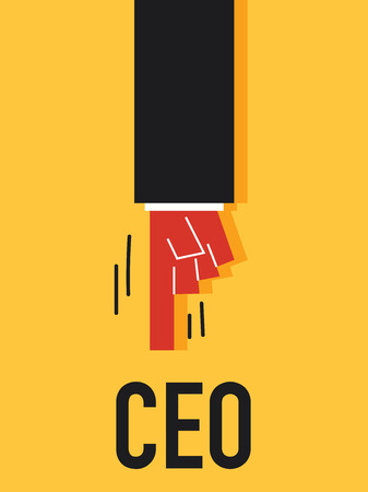 ceo: Word CEO vector illustration Illustration