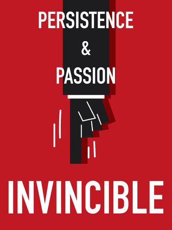 Word INVINCIBLE vector illustration Illustration