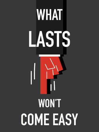 harried: Word WHAT LASTS vector illustration Illustration