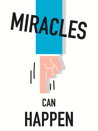 miracle: Word MIRACLE vector illustration