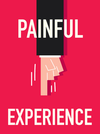 injurious: Word PAINFUL vector illustration Illustration