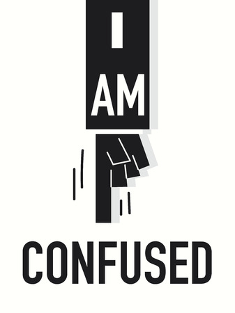 Word I AM CONFUSED illustration