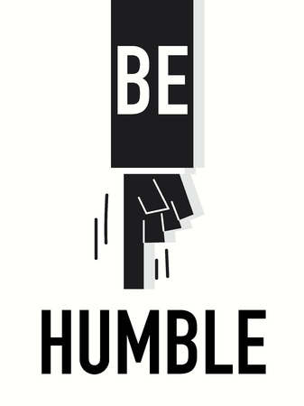 Word BE HUMBLE