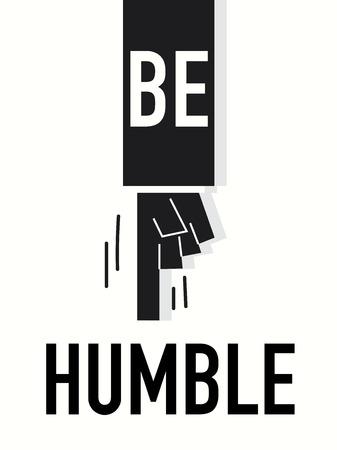 humble: Word BE HUMBLE