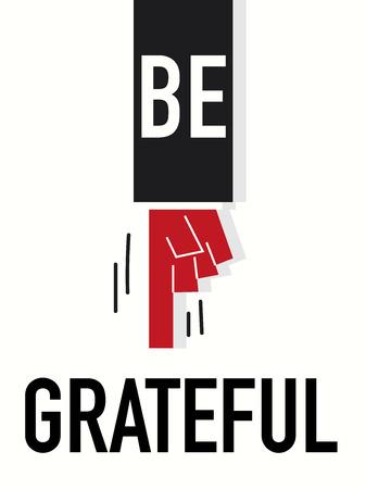 Word BE GRATEFUL Vector