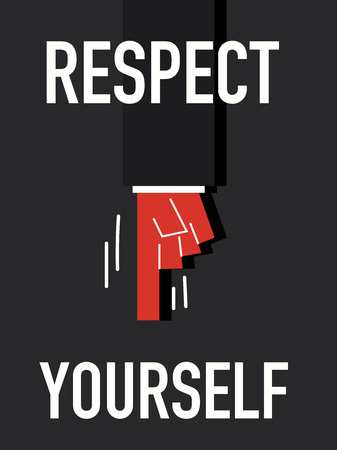 courteous: Word RESPECT YOURSELF Illustration