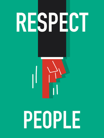 grammatical: Word RESPECT YOURSELF vector illustration