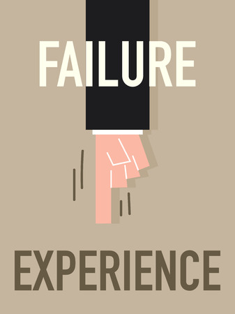 debility: Word FAILURE vector illustration