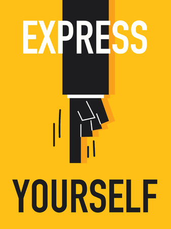 Word EXPRESS YOURSELF