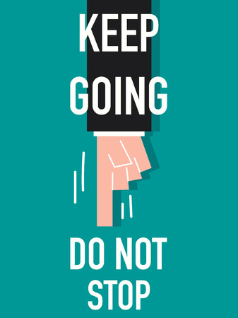 announced: Word KEEP GOING Illustration