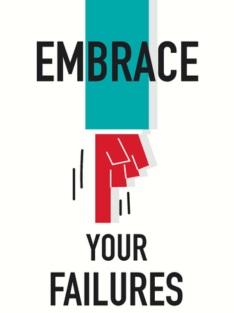 Word EMBRACE YOUR FAILURES Vector