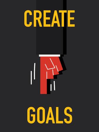 originate: Word CREATE GOALS