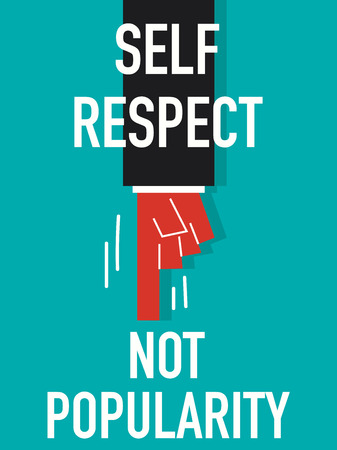 thoughtfulness: Word SELF RESPECT