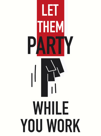 Word LET THEM PARTY Illustration