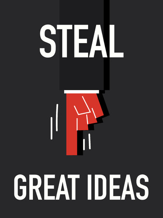Word STEAL GREAT IDEAS Vector